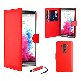 LG G3 Stylish PU Leather Case - Red Mobile phones
