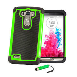 LG G3 Dual layer shock proof case - Green Mobile phones