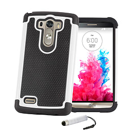 LG G3 Dual layer shock proof case - White Mobile phones