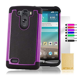 LG G3 Dual layer shock proof case - Purple Mobile phones