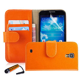 Nokia Lumia 630 Stylish PU leather wallet case - Orange Mobile phones