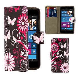Nokia Lumia 630 PU leather design book case - Gerbera Mobile phones
