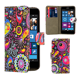 Nokia Lumia 630 PU leather design book case - Jellyfish Mobile phones