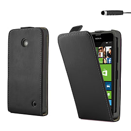 Nokia Lumia 630 Stylish PU leather flip case - Black Mobile phones