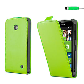 Nokia Lumia 630 Stylish PU leather flip case - Green Mobile phones