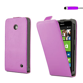 Nokia Lumia 630 Stylish PU leather flip case - Purple Mobile phones