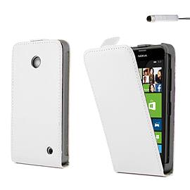 Nokia Lumia 630 Stylish PU leather flip case - White Mobile phones