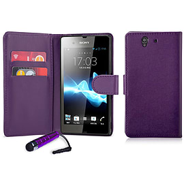 Sony Xperia Z3 Stylish PU leather case - Purple Mobile phones