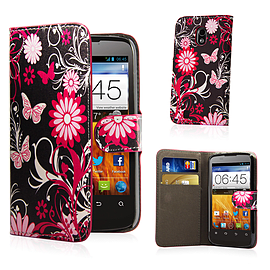 ZTE Blade 3 Stylish Design PU leather case - Gerbera Mobile phones