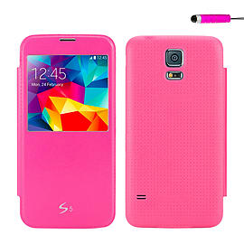 Samsung Galaxy S5 Ultra slim flip case - Hot Pink Mobile phones