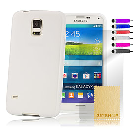 Samsung Galaxy S5 Crystal Gel case - White Mobile phones