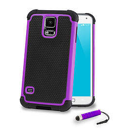 Samsung Galaxy S5 Dual layer shockproof case - Purple Mobile phones