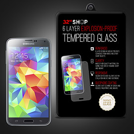Samsung Galaxy S5 Mini Extra Armoured tempered glass screen protector Mobile phones