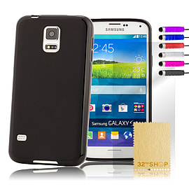 Samsung Galaxy S5 Mini Crystal Gel case - Black Mobile phones