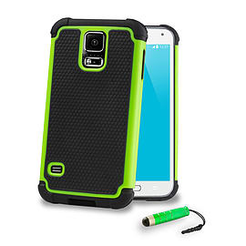 Samsung Galaxy S5 Mini Dual layer shockproof case - Green Mobile phones