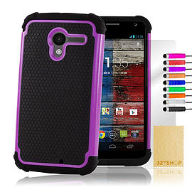 Motorola Moto X Dual layer shockproof case - Purple Mobile phones