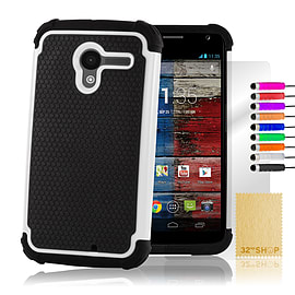 Motorola Moto X Dual layer shockproof case - White Mobile phones