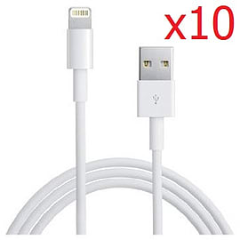 Pack of 10 USB data charging cables for Apple iPhone 5 5S Mobile phones