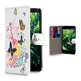 Huawei Ascend P6 Stylish Design PU leather case - Colour Butterfly Mobile phones