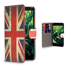 Huawei Ascend G6 (3G) Stylish Design PU leather case - Union Jack Mobile phones
