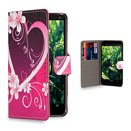 Huawei Ascend P7 Mini Stylish PU leather design case - Love Heart Mobile phones