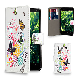 Huawei Ascend Y300 Stylish Design PU leather case - Colour Butterfly Mobile phones