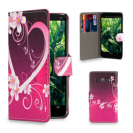 Huawei Ascend Y300 Stylish Design PU leather case - Love Heart Mobile phones