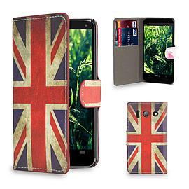 Huawei Ascend Y300 Stylish Design PU leather case - Union Jack Mobile phones