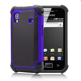 Samsung Galaxy Ace 4 G313 Dual layer shockproof case - Deep Blue Mobile phones