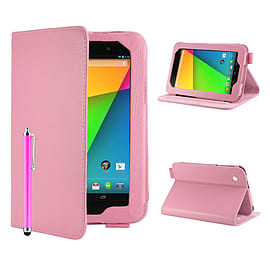 Google Nexus 7 Angle Book PU leather case - Baby Pink Mobile phones