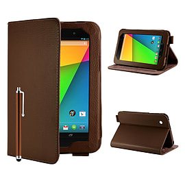 Google Nexus 7 Angle Book PU leather case - Brown Mobile phones