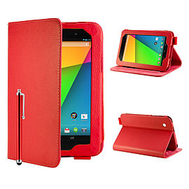 Google Nexus 7 Angle Book PU leather case - Red Mobile phones