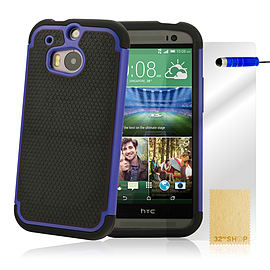 HTC One M8 Dual layer shockproof case - Deep Blue PC Games and Downloads