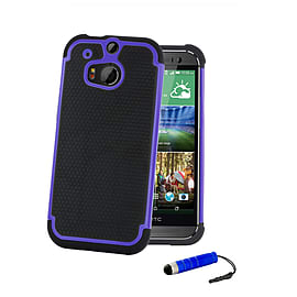 HTC One Mini 2 (M8 Mini) Dual layer shockproof case - Deep Blue Mobile phones
