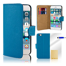iPhone 6+ (5.5) Genuine leather case - Deep Blue Mobile phones