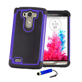 LG G3 Dual layer shock proof case - Blue Mobile phones