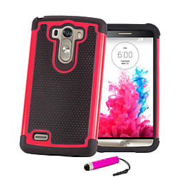 LG G3 Dual layer shock proof case - Hot Pink Mobile phones