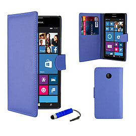Nokia Lumia 630 Stylish PU leather wallet case - Deep Blue Mobile phones
