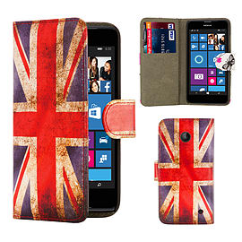 Nokia Lumia 630 PU leather design book case - Union Jack Mobile phones