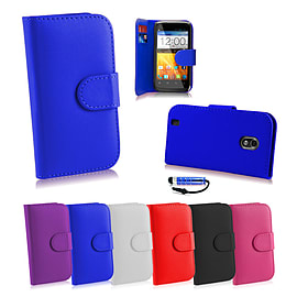 ZTE Blade 3 Stylish PU leather case - Deep Blue Mobile phones