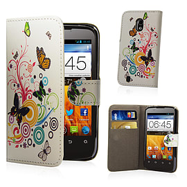 ZTE Blade 3 Stylish Design PU leather case - Colour Butterfly Mobile phones