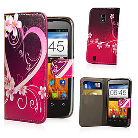 ZTE Blade 3 Stylish Design PU leather case - Love Heart Mobile phones