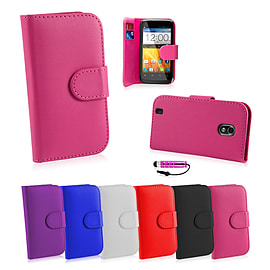 ZTE Blade V '5' Stylish PU leather case - Hot Pink Mobile phones