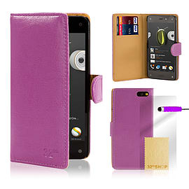 Amazon Fire Phone Stylish PU leather wallet case - Purple Mobile phones