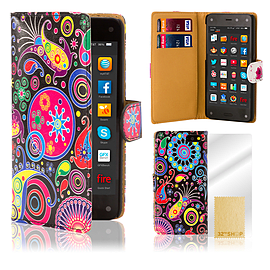 Amazon Fire Phone PU leather design book case - Jellyfish Mobile phones