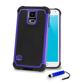 Samsung Galaxy S5 Dual layer shockproof case - Deep Blue Mobile phones