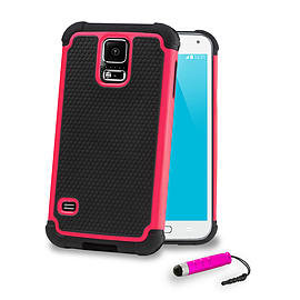 Samsung Galaxy S5 Dual layer shockproof case - Hot Pink Mobile phones