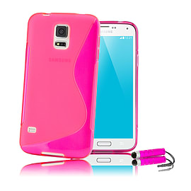 Samsung Galaxy S5 S-Line gel case - Hot Pink Mobile phones