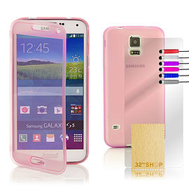 Samsung Galaxy S5 Full cover gel case - Hot Pink Mobile phones