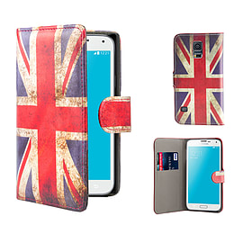 Samsung Galaxy S5 Mini PU leather design book case - Union Jack Mobile phones